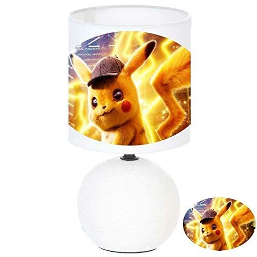 Lampe de chevet POKEMON D/ÉTECTIVE PIKACHU cr/éation artisanale type serviettage c/éramique N/° 1