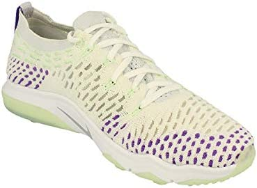 Nike Womens Air Zoom Fearless Flyknit Running Trainers 850426 Sneakers Shoes (UK 6.5 US 9 EU 40.5, White Wolf Grey Hyper Grape 103)