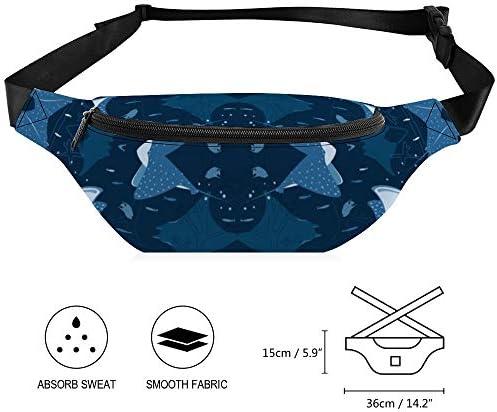空飛ぶアカエイ ウエストバッグ ショルダーバッグチェストバッグ ヒップバッグ 多機能 防水 軽量 スポーツアウトドアクロスボディバッグユニセックスピクニック小旅行