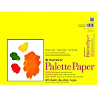 """Strathmore 365-12 300 Series Paper STR-365-12 40 Sheet Disposable Palette, 12 by 16"""", 12""""x16"""", White"""