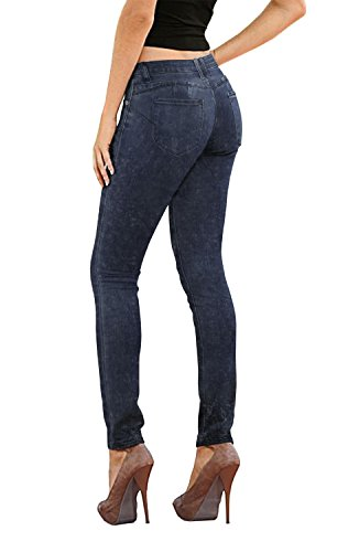 (Women's Butt Lift Stretch Denim Jeans-P37381SK-BLUEACID-11)