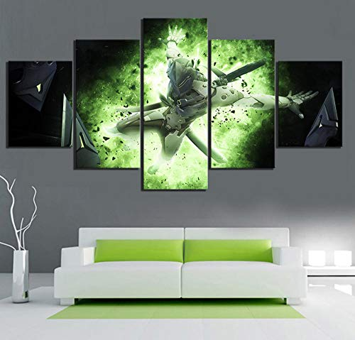 HNFSCLUB 5 Pieces HD Print Online APP Game Scene Poster Wall Sticker Canvas Wall Art Paintings for Home Office Decoration-UnFramedB (Best Dota 2 App)
