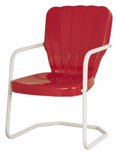 Torrans tmcred Thunderbird Metal Lawn Chair - Red