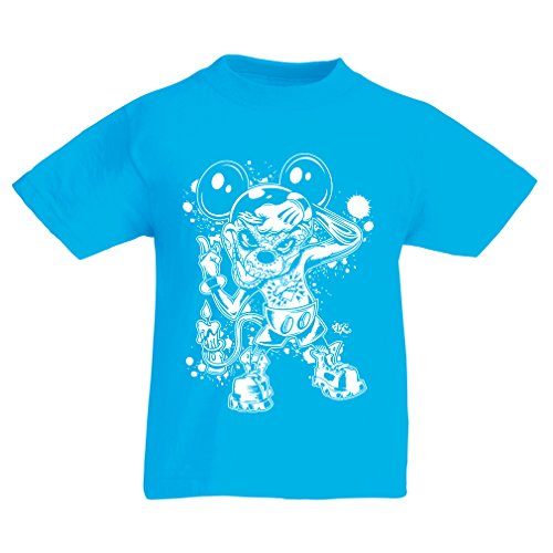 Skeleton Boner Costumes (T shirts for kids a mouse with an amazing Halloween costume (14-15 years Light Blue Multi)