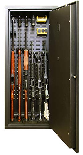 Secure It Gun Safe Agile Model 52 Gun Cabinet: Holds 6 Rifles and Includes CradleGrid Tech, A Heavy Duty Safe with Keypad Control, Stores Rifles, Shotguns and Pistols, Easy Assembly