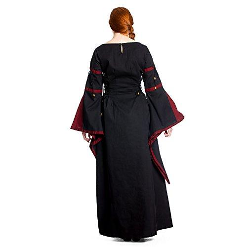 rot Look Rot XXL schwarz Leinen Baumwolle im Mittelalter lang S Größen TwC6tqgY
