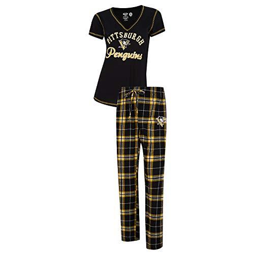 Duo Penguin (Concepts Sport Pittsburgh Penguins Women's Pajama Set Duo Sleep Set (Small))