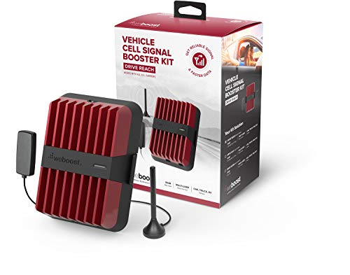 weBoost Drive Reach 470154 Cell Phone Signal Booster for Your Car, Truck, Van, or SUV - Verizon, AT&T, T-Mobile, Sprint -  Enhance Your Cell Phone Signal Across North America