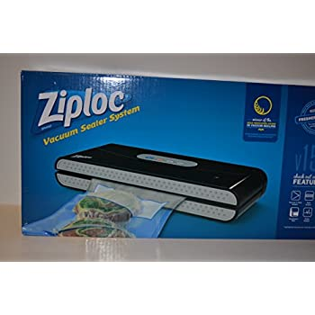 ziploc v159 vacuum seal food saving machine with 3 quart bags 2 gallon bags and a 0. Black Bedroom Furniture Sets. Home Design Ideas