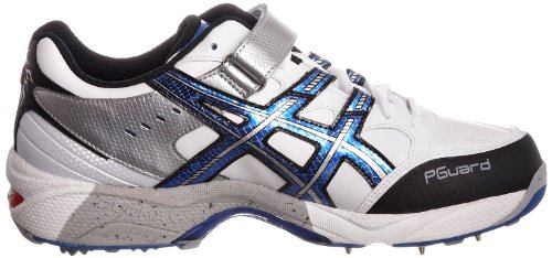 Asics Gel Speed Menace - Calzado de críquet Hombre White/Super Blue/Black