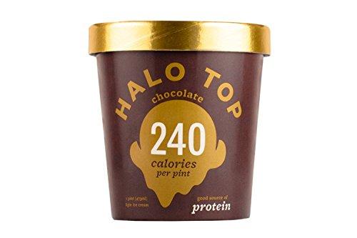 Halo Top, Chocolate Ice Cream, Pint (Pack of 8)