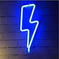 Lightning Bolt Neon Signs, LED Lightning Decor Light Neon Sign,Wall Decor for Home,Birthday Party,Kids Room, Living Room…