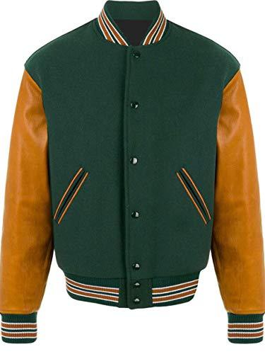 Green Wool Varsity Jacket - 7