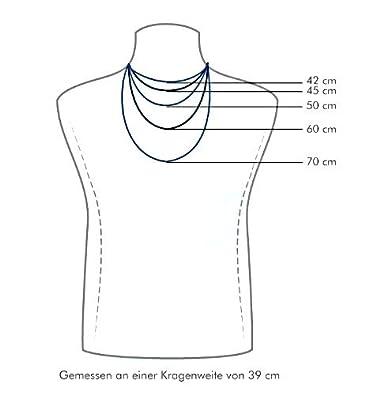 STERLL Herren Halskette Silber 925 mit Kreuzanh/änger Schmuck-Beutel Geschenke f/ür M/änner