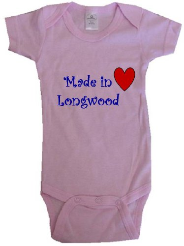 - MADE IN LONGWOOD - LONGWOOD BABY - City Series - Pink Baby One Piece Bodysuit - size Small (6-12M)