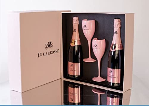 Estuche 2 botellas Le Carrosse Rosé 75 cl con 2 copas: Amazon.es: Alimentación y bebidas