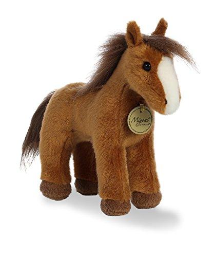 Aurora World Miyoni Plush Brown Horse Plush Toy, Brown