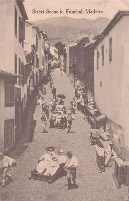 - G2417 Portugal, Madeira Funchal Street Scene Postcard