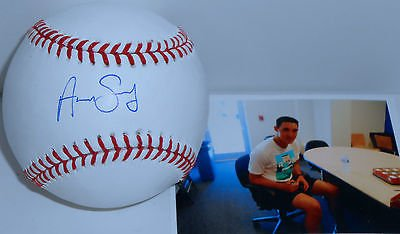 Aaron Sanchez Toronto Blue Jays Autographed Signed Baseball w/Proof Picture SidsGraphs