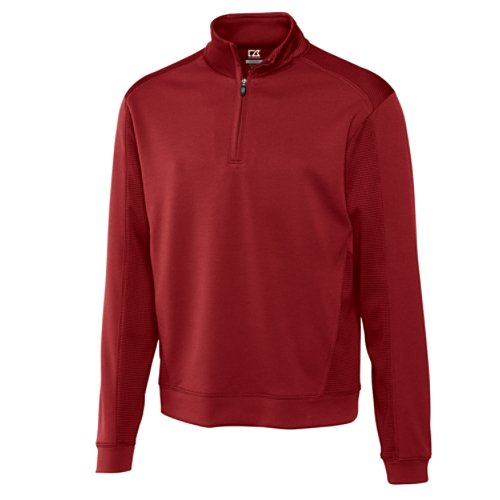 Cutter & Buck Men's Big Drytec Edge Half Zip, Cardinal Red, 4X/Tall (Tall Cutter)