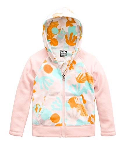 The North Face Kids Baby Girl's Glacier Full Zip Hoodie (Toddler) TNF White Cactus Mix Print 5T