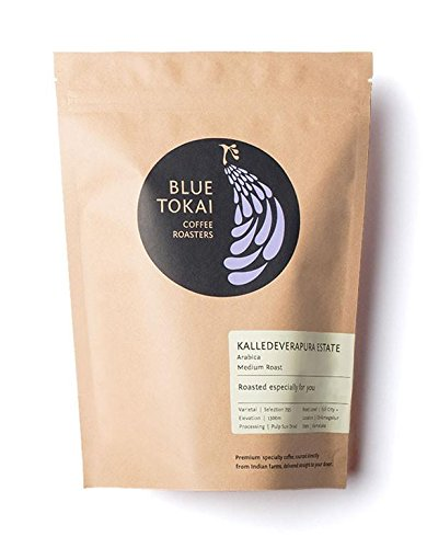 Blue Tokai Coffee Roasters, Kalledeverapura Estate (Indian Origin), Medium Roast 100% Arabica, 8.8 Oz (Whole Beans)