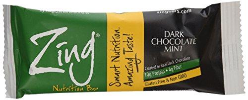 Zing Nutrition Bar, chocolat menthe foncé, 1,76 Oz. Bars, 12 comte