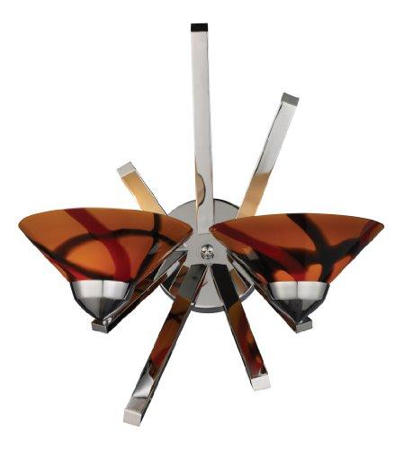 Jas Elk (Elk 1478/2JAS 2-Light Sconce In Polished Chrome and Jasper Glass)