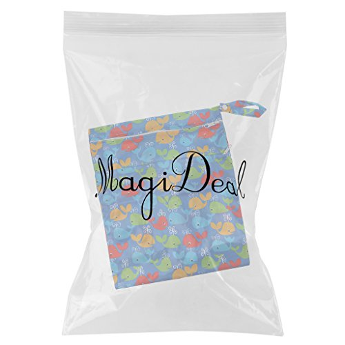 MagiDeal Bolso Impermeable Mojado Seco de Cremallera Ligero para Infantil Pañal de Bebés - Estilo 8 Estilo 5