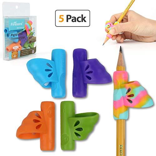 Butterfly Pencil Grips, Firesara New Updated Original Ergonomic Handwriting Correction Finger Assorted Pencil Grip for Righties Kids Children Preschoolers Adults or Special Needs