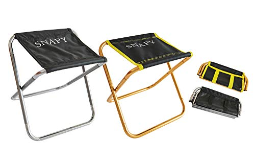 (SNAPY 2-Pack Mini Folding Camping Stool, Lightweight Camp Stool, Portable Folding Camp Chair, Ultralight Camping Chair for BBQ, Garden, Camping, Travel, Hiking (12