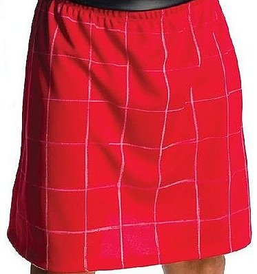 [Red Wrestling Kilt Skirt] (Roddy Piper Costume)