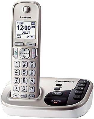 Panasonic KX-TGD220 N DECT 6.0 Expandable Digital Cordless sistema de contestador (Certificado Reformado): Amazon.es: Electrónica