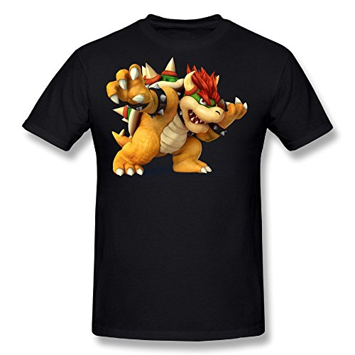 Tongda Men's Bowser Cartoon T-shirt Black