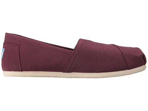 TOMS Womens Classic Canvas Slip-On,RED MAHOGANY ,5 M US