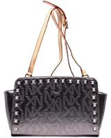 Unlimited Fashion NX Embossed Print Rockstud Cross Body Bag