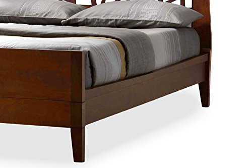 Baxton Studio Jennifer Tree Branch Inspired Walnut Finishing Solid Wood Platform Base Bed Frame, King