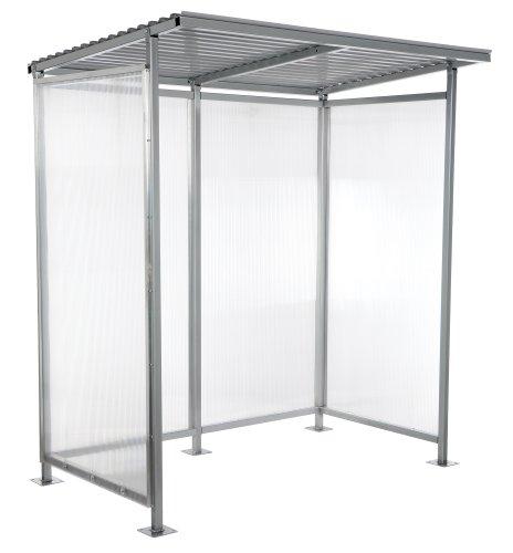 Vestil SSH-7939-80 Carbon Steel Smoking Shelter/Bus Stop, 49-5/16