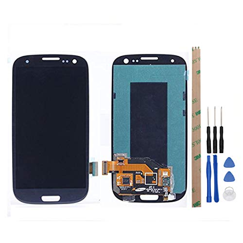 HYYT Replacement for Samsung Galaxy S3 i9300 i9305 i535 T999 i747 LCD Display and Touch Screen Digitizer Glass Replacement Full Assembly (Galaxy S3 Screen Replacement Blue)