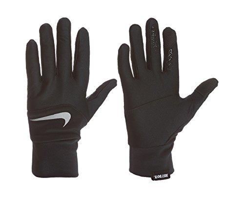 Nike Women's Dri-Fit Tempo Run Gloves,Small (Black/Silver) by Nike (Image #1)