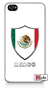 Premium Mexico Mexican National Flag Badge Direct UV Printed (Not a sticker) iphone 6 plus Quality Hard Snap On Case for iphone 6 plus - AT&T Sprint Verizon - White Case