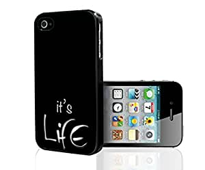 """""""It's Life"""" on Black Background Hard Snap on Phone Case (iPhone 5/5s)"""