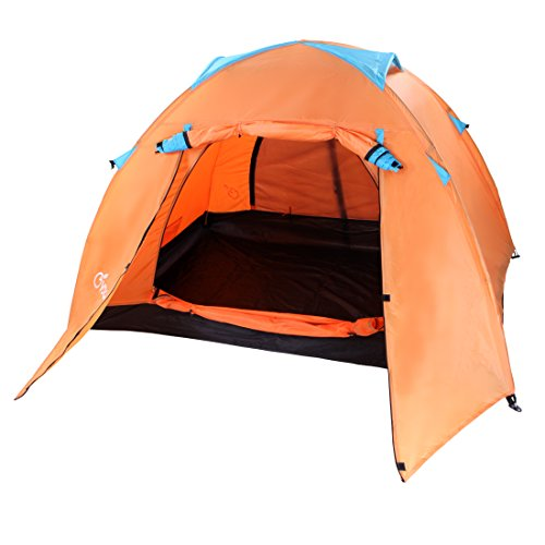 Yodo Upgraded 3-Season 1,2,4 Person Waterproof Tent for Camping Backpacking ,Double Layers with 2 Doors and Rainfly