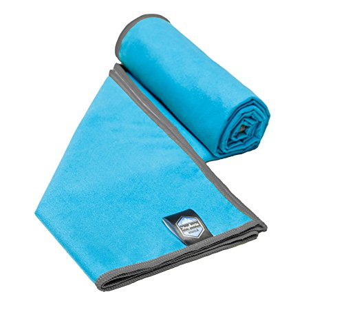 Nylon Fiber Super (Youphoria Sport Towel and Travel Towel - Super Absorbent and Quick Drying! Camping, Beach, Pool, Gym or Bath. 100% Satisfaction Guarantee! (Blue/Gray, 28