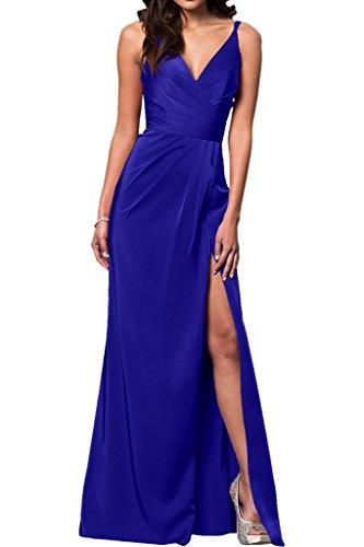 Chiffon Abendkleider mia Bodenlang Damen Braut Royal Blau Gruen Partykleider Ballkleider La Etuikleider Dunkel Aermellos 0dqYBxB1w