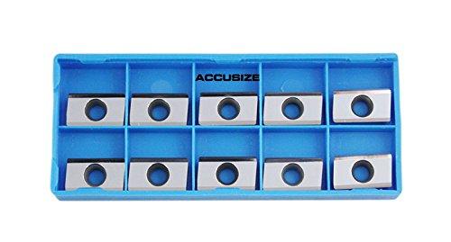 AccusizeTools - APKT 160408 LH Carbide Insert, K10, Aluminum Cutting, 0058-1604x10 by Accusize Industrial Tools