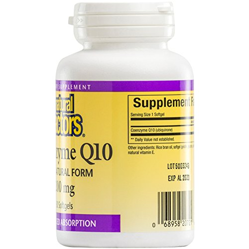 Natural Factors - Coenzyme Q10 200mg Antioxidant Support with Enhanced Absorption 30 Soft Gels Discount