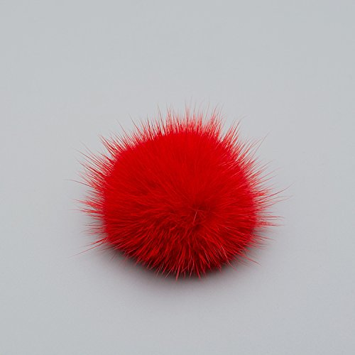 Pack Fur Clips Red Wedding of Mink Decoration TOOKY Removable Women' Fluffy Pom Clutch Shoe 2 qnFxSRPUT
