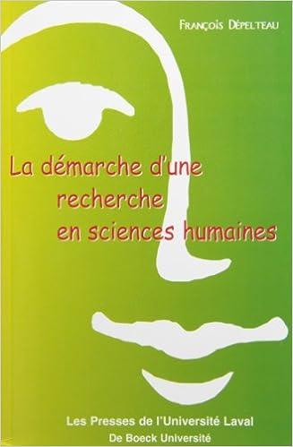 En ligne La démarche d'une recherche en sciences humaines. : De la question de départ à la communication des résultats pdf