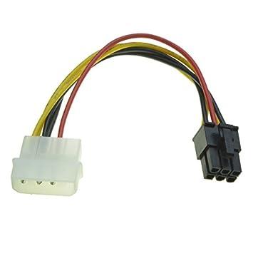 R03 6pin PCIe auf 4 Pin Molex Grafikkarte Stromkabel: Amazon.de ...